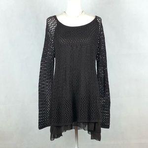 Indigo Soul Knitted Mesh Lined Tunic